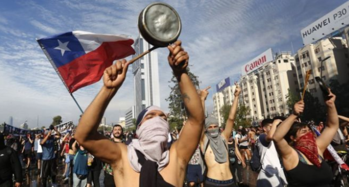 Protestas sociales en Chile (Fuente: Getty Images)